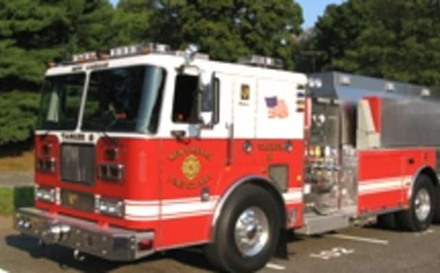 The New Canaan fire department was able to quickly extinguish a roof fire on Thursday, Jan. 16.