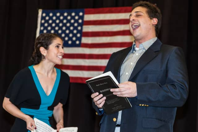 """Greenwich's St. Catherine's Players are set to present the musical """"Barnum"""" in February. Pictured are Greenwich residents Rebecca Cooper and Tony Morello."""