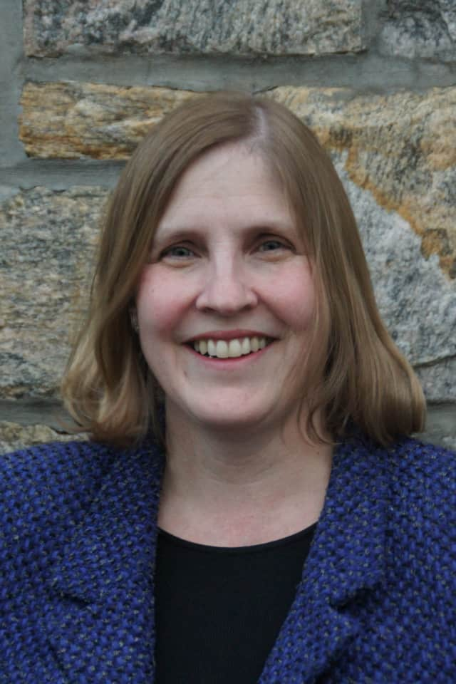 Rye Board of Education Member Edward Fox believes Board President Laura Slack (pictured) has a conflict of interest in the negotiations with a suspended elementary school teacher.