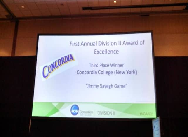 Concordia College placed third overall in the nation for the first NCAA Division II Award of Excellence.