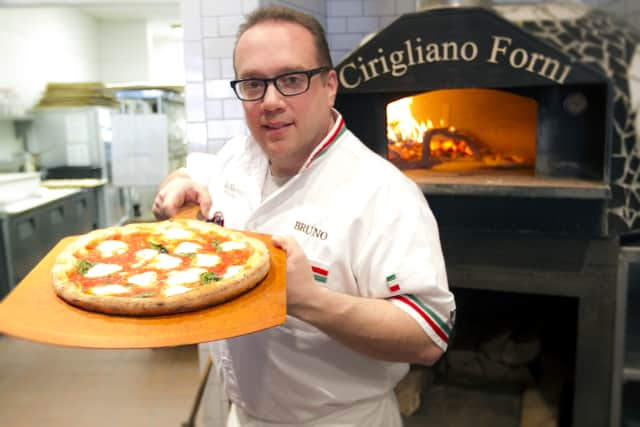 """Ridgefield Chef Bruno DiFabio, owner of Pinocchio Pizza in Wilton and New Canaan, will be a guest judge on Sunday night's episode of the Food Network show """"Chopped."""""""