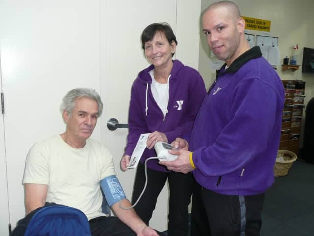 The Wilton Family Y is set to launch the YMCA's Healthy Heart Initiative on Feb. 12. Pictured are, from left, Y member Charlie Galardi, Fitness Director Mary Ann Genuario and Fitness Trainer Mike Martorell.