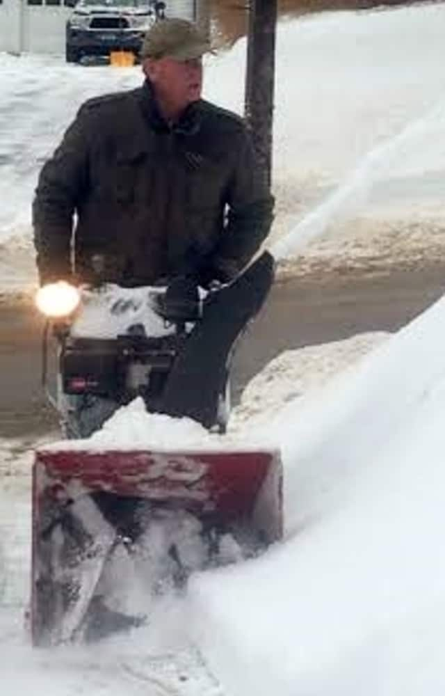 Danbury breaks out the snowblowers near Deer Hill Avenue to dig out from the icy storm that struck early Wednesday.