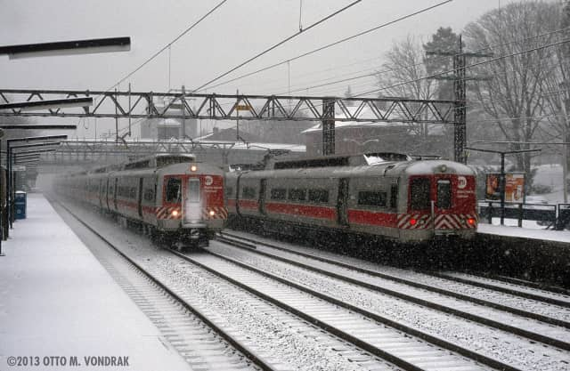 Metro-North has cut back on service on the New Haven Line during Thursday's snowstorm.