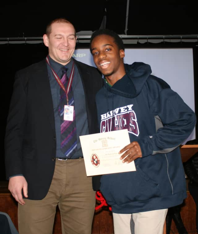 Athletic Director Mark Brandon Michael DePass, a sophomore at The Harvey School in Katonah, was recently named the top male Student Athlete of the Month for January.