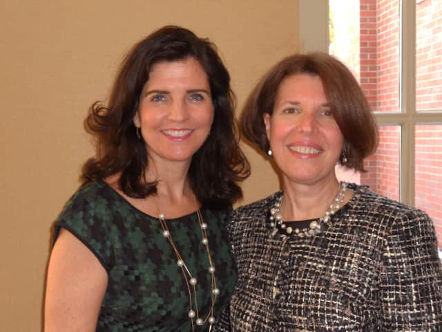 Dr. Donna Coletti (right), medical director, palliative care services at Greenwich Hospital was honored with a BRAVA Award by the YWCA Greenwich on Friday Feb. 7. Presenting the award was Melissa Turner, senior VP, human resources.