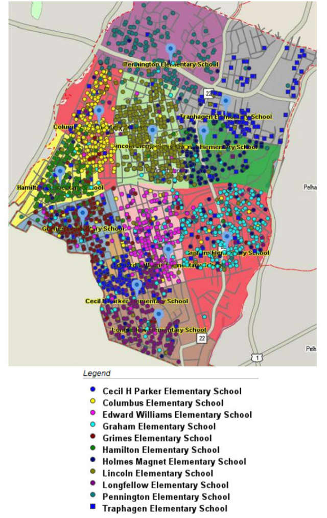 This graphic shows how over or underutilized the many Mount Vernon schools are.