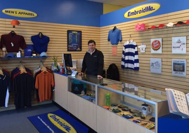 Somers' Tom Newman recently opened an EmbroidMe business in The Somers Commons Shopping Center.