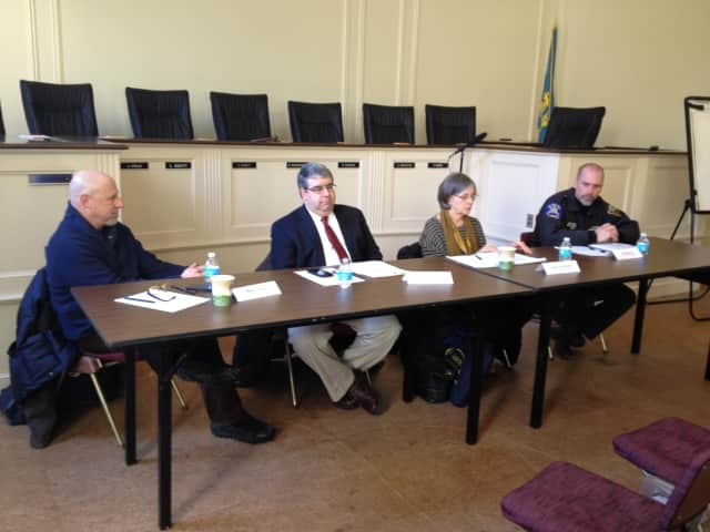 A Rye YMCA panel of four professionals recently addressed teens facing critical challenges at a panel at Rye City Hall.