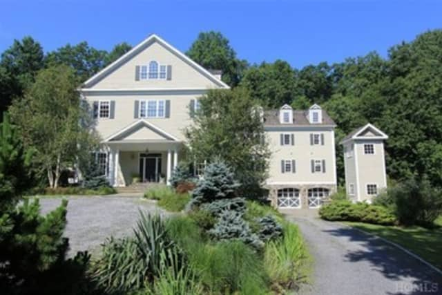 This house at 18 Kendal Road in Pound Ridge is open for viewing on Sunday.