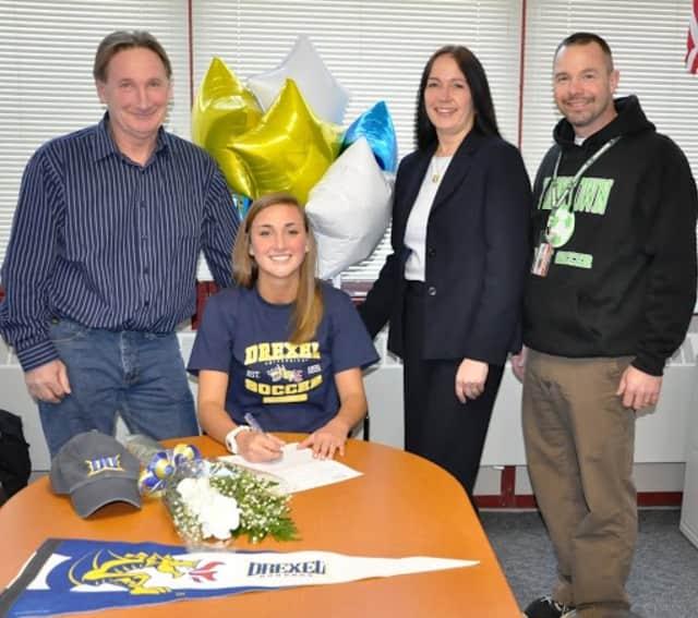 Heidi Gspurning, a Yorktown High School senior, signs to play soccer for Drexel University.