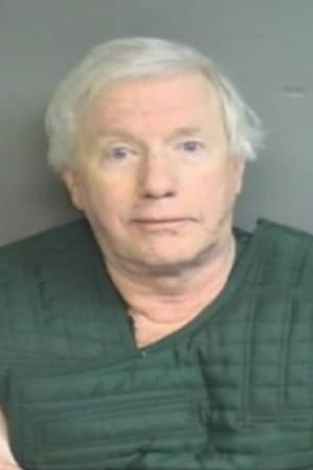 Michael Luecke, 72, of Stamford, was arrested on a public indecency charge while working as a substitute teacher at Westhill High School.