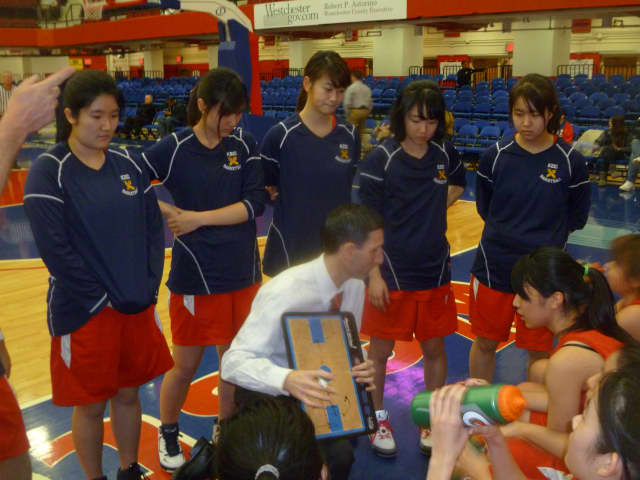 The Keio Academy girls basketball team was trying to win its first Section 1 basketball title.