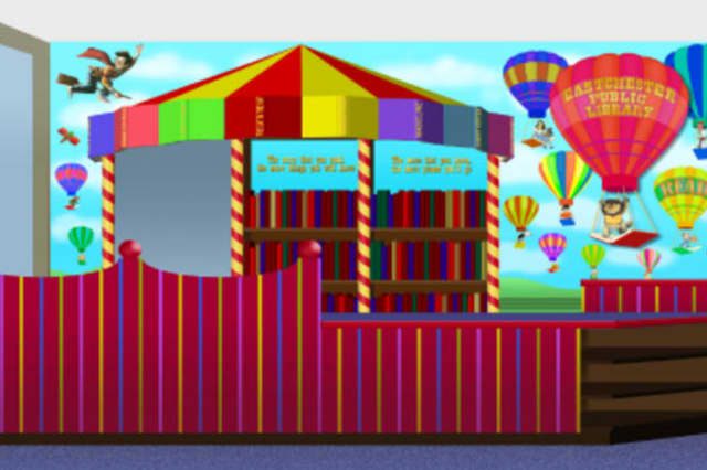 An artist's rendering of the new Eastchester Public Library Children's Room.