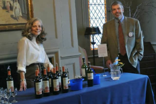 The wine tasting will include food and a special auction,