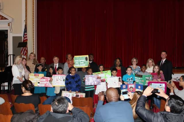 """Elmsford elementary students highlighted their """"Vision Board"""" project at the recent Elmsford School District Board of Education meeting."""