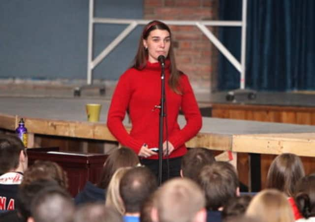 Jacy Good will speak to New Canaan students about distracted driving on Wednesday, March 12.