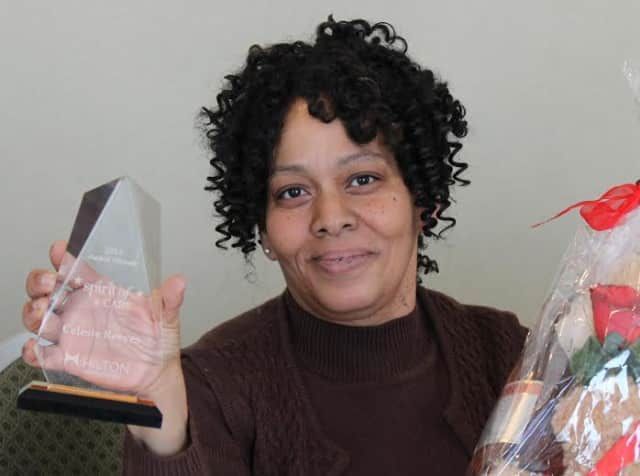 "DoubleTree by Hilton Tarrytown's Celeste Reeves recently received the ""Spirit of CARE"" award."