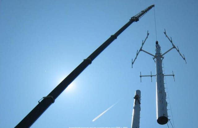 Homeland Towers installed a new cell tower on Waccabuc Road in Goldens Bridge Thursday.