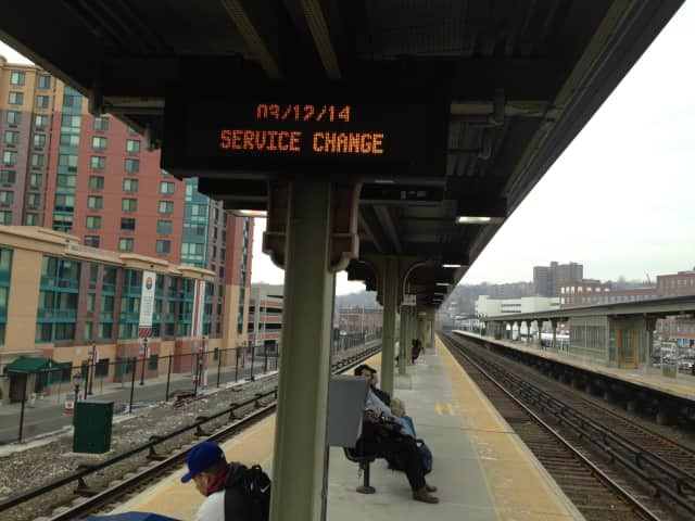 The signs at the Yonkers train station glowed orange, indicating a service change, on almost every platform.