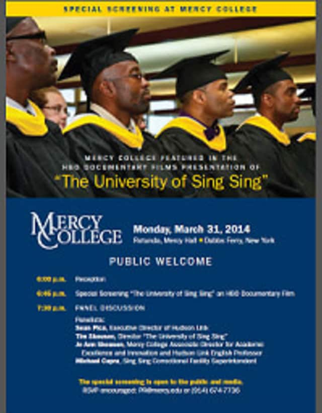 """The HBO film """"The University of Sing Sing"""" will be screened at Mercy College on March 31."""