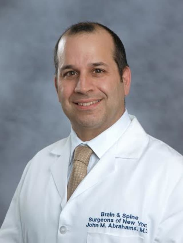 John Abrahams, MD, FAANS, chief of neurosurgery and co-director of the Orthopedic and Spine Institute, Spine Section at Northern Westchester Hospital.