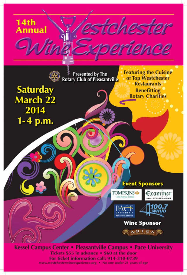 The Pleasantville Rotary Club is set to present the Westchester WIne Experience on Saturday, March 22.