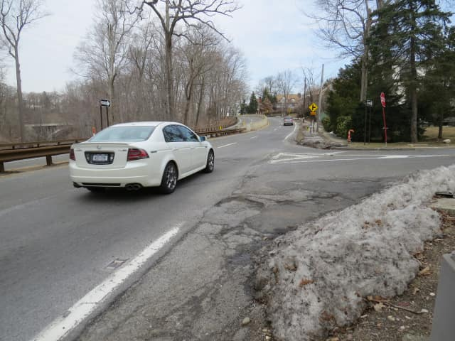 Motorists on the narrow, winding Bronx River Parkway have to avoid treacherous potholes.