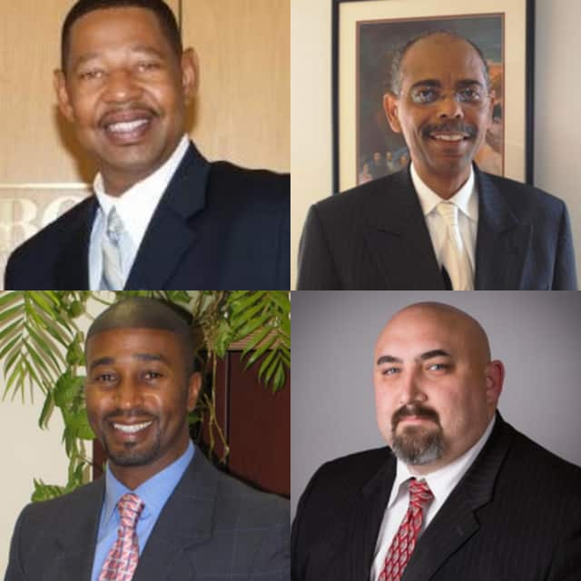 The four candidates for Mount Vernon superintendent.