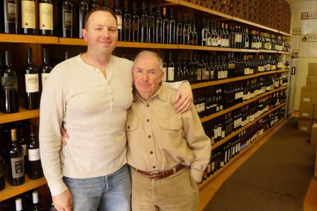 Scott Wunderlich, left, and his father, Arthur, own Bedford Wine Merchants.