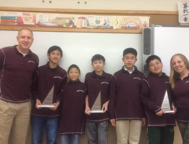 The Scarsdale Mathcounts team was tops in the state.
