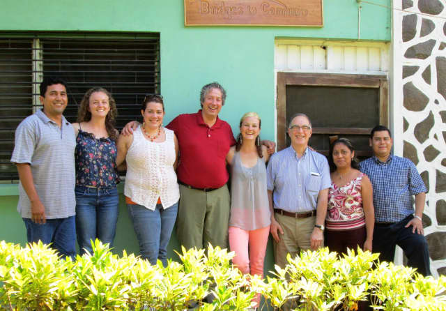 Ossining's Bridges To Community recently welcomed new Executive Director John Hannan, fourth from left, during his trip to Nicaragua.