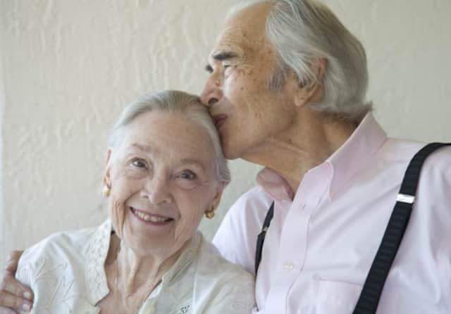 Iola Brubeck with her husband, Dave Brubeck, the famed jazz musician.