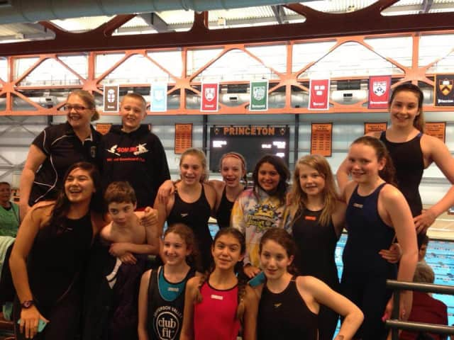 Club Fit's junior varsity swim team competed in March Madness at Princeton University on Tuesday, March 18.