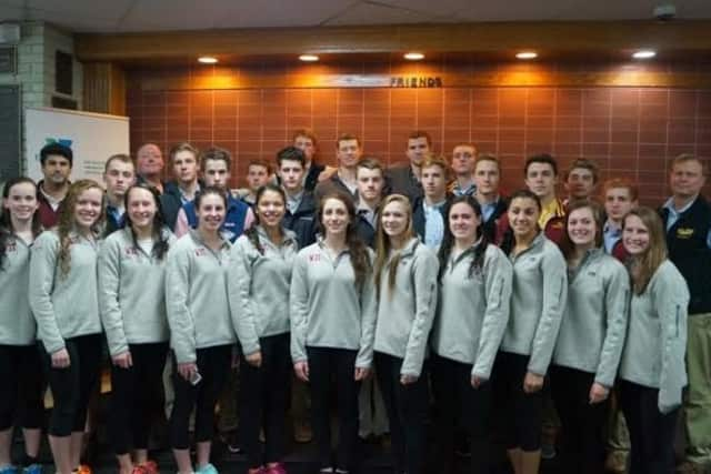 The Wilton Y Wahoos sent 26  swimmers Sunday to the YMCA Short Course National Championships in Greensboro, N.C.