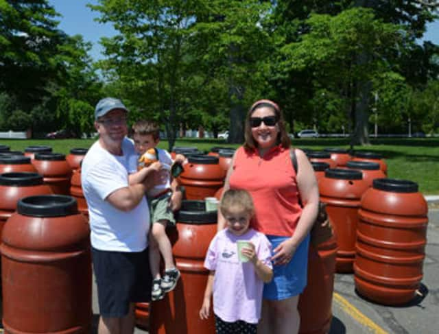 Just one 60-gallon recycled food-grade barrel can consistently irrigate a 100-square-foot garden, Aquarion Water said.