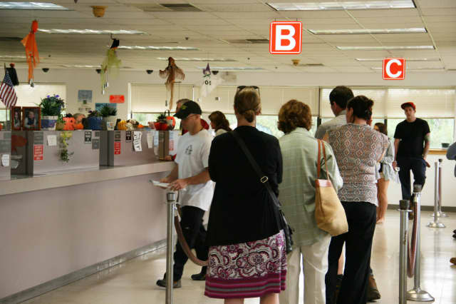 A recent study by DMV.com said New Yorkers spend just over 34 minutes waiting at the Department of Motor Vehicles.