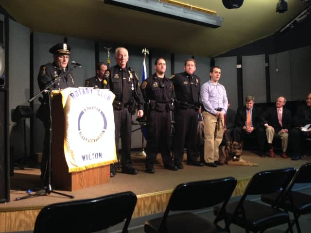 Wilton police officers were honored at the Rotary Police Awards ceremony.