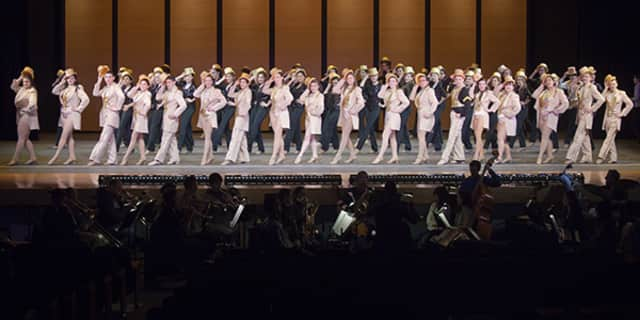 "The Harrison High School players earned rave reviews for the March production of ""A Chorus Line,"" school officials said."