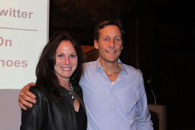 Nicole Cribbins, YWL President, and Jim Ziolkowski, founder and CEO of buildOn