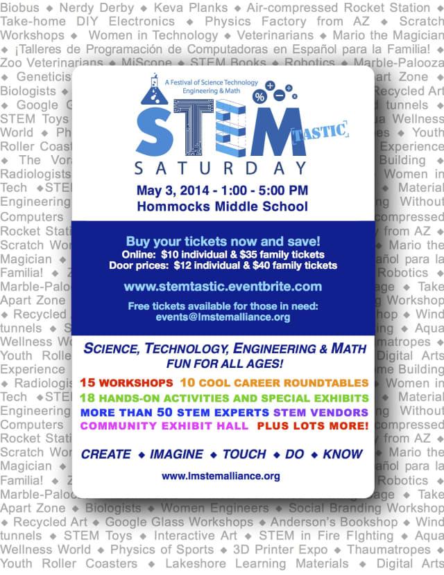 Stem-tastic Saturday is May 3 at Hommocks Middle School.