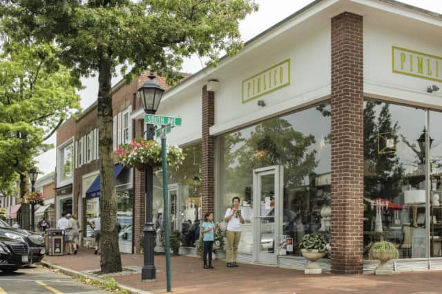 The retail building at 44-48 Elm St. in downtown New Canaan sold recently.