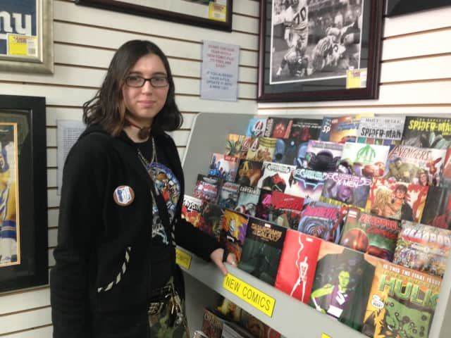 Crystal Conklin of Yonkers has worked at American Legends Baseball Memorabilia and Comics for five years.