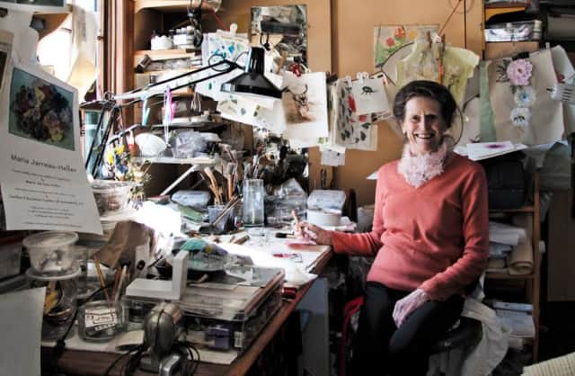 The Wilton Library is exhibiting the works of longtime Wilton resident Maria Jarreau Heller.