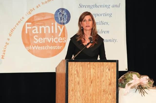Laura Saggese of Bedford was honored at last year's gala for Family Services of Westchester.