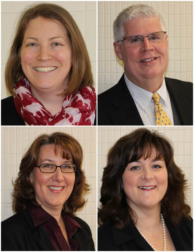 Brenda O'Shea (top left), John Reilly (top right), Chris Ward (bottom left) and Kathleen Reilly (bottom right) are the 2014 Somers Education Foundat Hall of  Fame inductees.