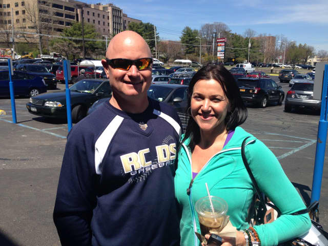 Ted and Gwen Lawrence shop at Whole Foods in Port Chester.