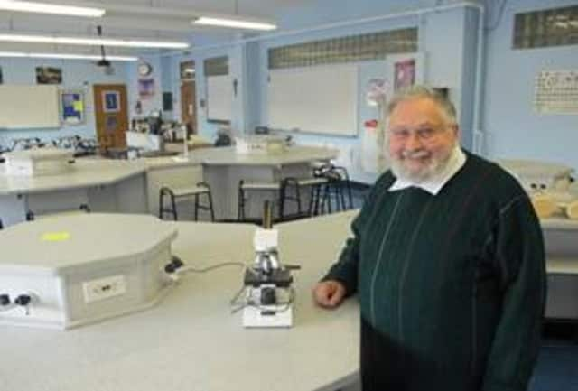 Alumnus and longtime faculty member Ron Tedesco will be honored with a physics lab in his name at Archbishop Stepinac High School.