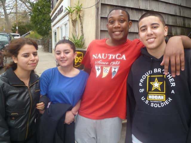 Hastings High School students, from left, Karen Espinoza, Alyssa Pistorino, Marquis Howell and Justin Bajan say lawsuits over the Pledge of Allegiance are not needed.