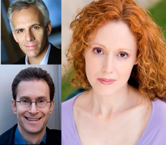 "Neal Mayer,top, Steve Perlmutter, bottom, and Quinn Cassavale will star in the Schoolhouse Theater's production of ""Luv."""